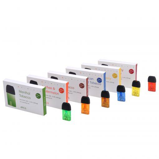 Colourful Vape Liquid Disposable Cartridges