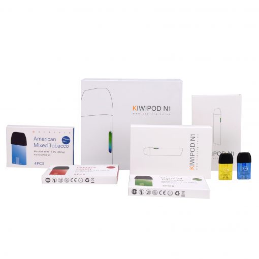 KiwiPod N1 Taste kit with Flavoured Vape liquid