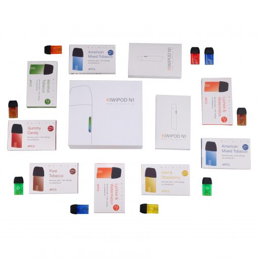 KiwiPod N1 Taste Kit with Colourful Disposable Cartridges