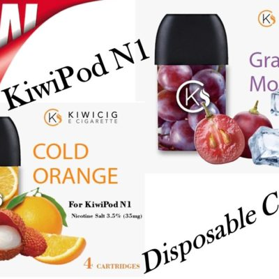 New kiwipod vape pod refills comes in cold orange and grape monster flavour